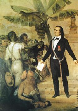 L'abolition de l'esclavage le 20 décembre à la Réunion.