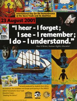 Affiche Journée internationale de l'abolition de l'esclavage