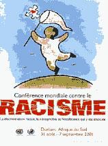 Affiche Conférence mondiale de Durban contre le racisme