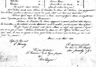 Liste des affranchis de 1838