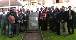 Visita de embaixadores africanos e das americas em Champagney em 2006