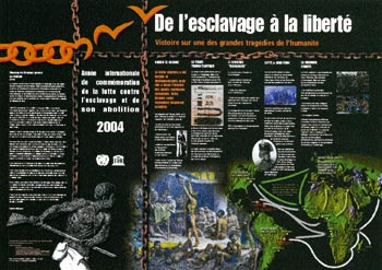 Affiche de l' année de commémoration internationale de la lutte contre l'esclavage