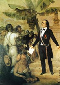 Declaracíon de la abolicíon de la esclavitud en las colonias