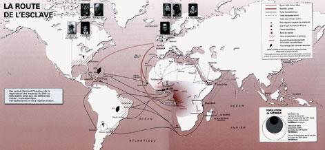 Carte de la route de l'esclave - UNESCO