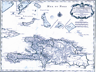 Carte de Saint-Domingue