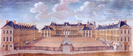 Le château de Lunéville en 1750 – Collection Musée du Château