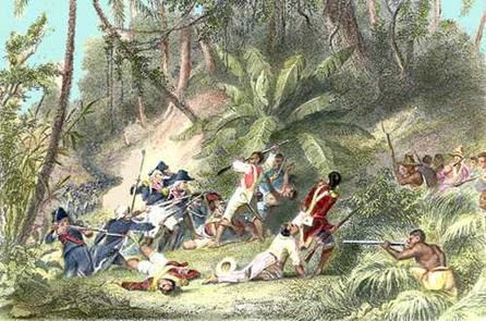 Scène de la guerre d'indépendance.