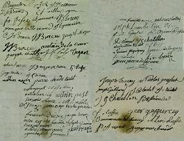 Signatures des humbles de Champagney