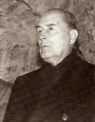 F.Mitterand au Fort de Joux, 1987