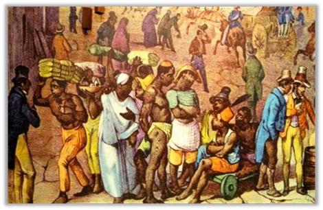 Marché d'esclaves au Brésil