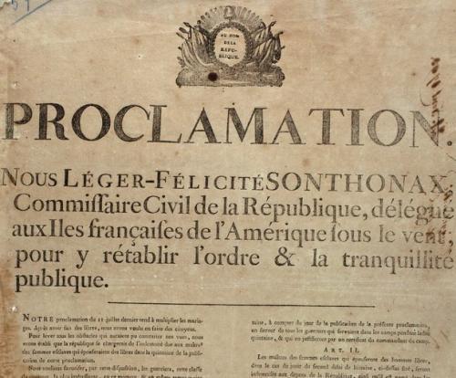 Proclamation de l'abolition le 29 août 1793