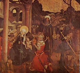 Tableau représentant les Rois Mages
