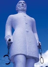 Estatua de Scholcher na Ilha da Martinica