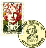 Selo oficial homenageando o Abade Gregoiree emitido em 1991